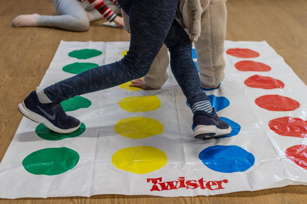 a game of twister