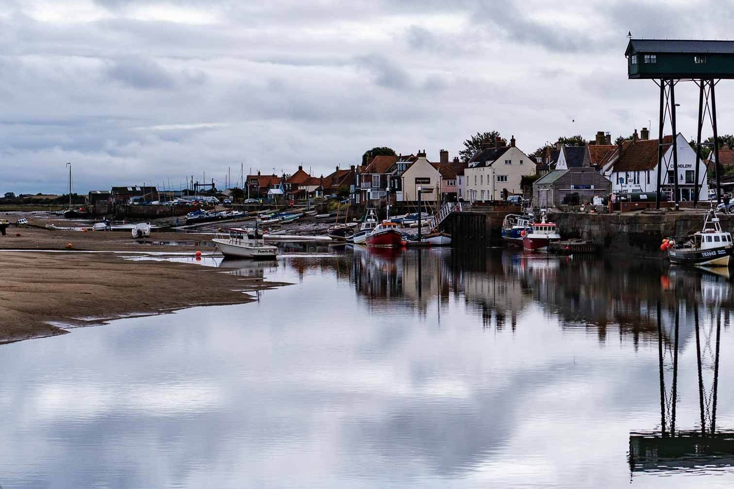 wells-next-to-the-sea harbour with moody sky
